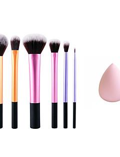 levne make-up kartáč sady-6 Štětec na tvářenku Syntetické chlupy Přenosná Šetrný vůči životnímu prostředí Profesionální Kov Oči Face