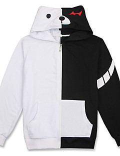Cosplay Suits Inspirert av Dangan Ronpa Monokuma Anime Cosplay Tilbehør قميص Gray Bomull Unisex