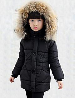 Casual/Dagelijks-Patchwork-Rayon-Winter-Girl's-Dons & Katoen voering-Zwart / Rood