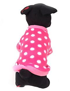 Cachorro Súeters Roupas para Cães Casual Mantenha Quente Pontos Polka Rosa