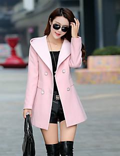 Damen Solide Einfach Lässig/Alltäglich Mantel Langarm Rosa Andere