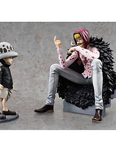 billige Anime cosplay-Anime Action Figurer Inspirert av One Piece Trafalgar Law PVC 18 cm CM Modell Leker Dukke