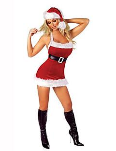 Nisse drakter Festival/høytid Halloween-kostymer Ensfarget Kjole Belte Hatter Jul Terylene