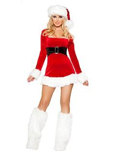 billige julen Kostymer-Mrs.Claus Cosplay Kostumer / Santa Clothe Jul Rød Terylene Cosplay-tilbehør Jul / Karneval kostymer