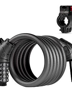billiga Cykling-Spiralformat kabellås till cykel Rekreation Cykling / Cykling / Cykel / BMX Ultra Lätt (UL) / ANT + / Säkerhet ABS / Legering - Svart / Grön / Blå