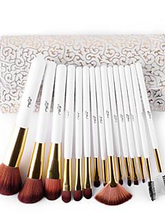 billige Sminkebørstesett-15pcs Makeup børster Profesjonell Børstesett Børste / Nylon Børste / Syntetisk hår Profesjonell / syntetisk / Hypoallergenisk Middels