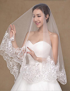 cheap -Two-tier Wedding Wedding Veil Fingertip Veils Wedding Veils 53 Lace Princess