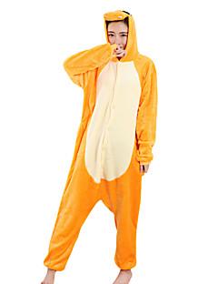 Kigurumi Pyjamas Drage Kostume Oransje Fløyel Mink Kigurumi Trikot / Heldraktskostymer Cosplay Festival / høytid Pysjamas med dyremotiv
