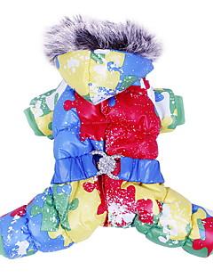 billiga Hundkläder-Hund Kappor Outfits Huvtröjor Hundkläder Färgblock Orange Gul Blå Cotton Kostym För husdjur Herr Dam Håller värmen Mode