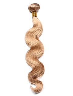 Păr Natural Păr Indian Precolored Țesăturile de par Stil Ondulat Extensii de par 1 Bucată Blond căpșună