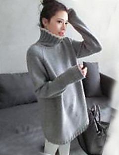 billige Lagersalg-Dame Vintage Sofistikert Gatemote Pullover - Ensfarget