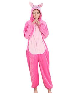 billige Kigurumi-Voksne Kigurumi-pysjamas Anime / Blå Monster Onesie-pysjamas Kostume Fløyel Mink Cosplay Til Pysjamas med dyremotiv Tegnefilm Halloween Festival / høytid / Jul