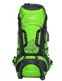 billiga Ryggsäckar och väskor-75L Ryggsäckar / Cykling Ryggsäck / ryggsäck - Vattentät, Andningsfunktion, Stötsäker Camping, Klättring, Fritid Sport Nylon ljusgrön