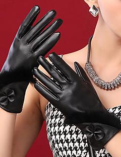 naisten pu bowknot ranteen pituus sormenpäät lisätä villa söpö / puolue / vapaa-ajan talven muoti lämpimät käsineet