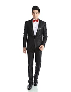 cheap Tuxedos-Tuxedos Tailored Fit Shawl Collar Single Breasted One-button Wool Blend Polyester/Rayon(T/R) Viscose Solid