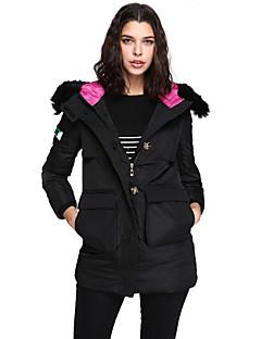 Χαμηλού Κόστους Γούνινο παλτό με κουκούλα-Γυναικεία Κομψό στυλ street Ενισχυμένο - Μονόχρωμο, Blană Curată
