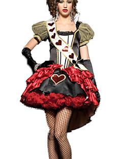 Costumes de Cosplay Casque Couronnes Costume de Soirée Bal Masqué Reine Conte de Fée Cosplay de Film Rouge Robe Coiffure Halloween Noël