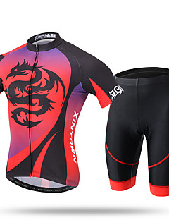 cheap Cycling Jersey & Shorts / Pants Sets-XINTOWN Men's Short Sleeves Cycling Jersey with Shorts - Red Bike Shorts Padded Shorts/Chamois Jersey Pants / Trousers Clothing Suits,