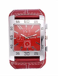 Herren Modeuhr Armbanduhr Quartz / Leder Band Vintage Cool Bequem Schwarz Weiß Rot Braun Weiß Schwarz Braun Rot