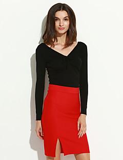 preiswerte Hosen & Röcke für Damen-Damen Stifte Röcke - Solide, Gespleisst