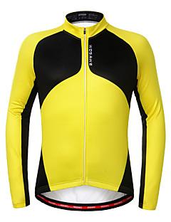 WOSAWE Cycling Jersey Unisex Long Sleeves Bike Sweatshirt Jersey Top Thermal / Warm Fleece Lining Anti-skidding/Non-Skid/Antiskid Limits