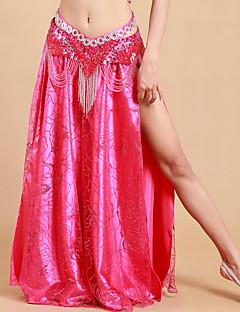 私たちはベリーダンススカート女性ポリエステル/プリーツソリッドスプリットスカート