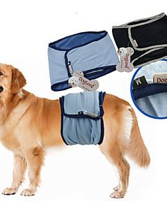 billiga Hundkläder-Hund Byxor Bomulds Blanding Blöjor Hundkläder Enfärgad Svart Blå Terylen Kostym För husdjur Herr Ledigt/vardag