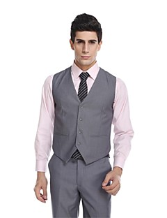 padrões de lã& poliéster blend slim fit suit vest with pocket by wetsonjpoilo