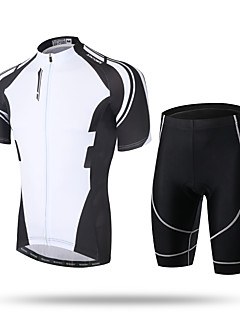 cheap Cycling Jersey & Shorts / Pants Sets-XINTOWN Men's Short Sleeves Cycling Jersey with Shorts - Black Bike Shorts Padded Shorts / Chamois Jersey Pants / Trousers Clothing Suits