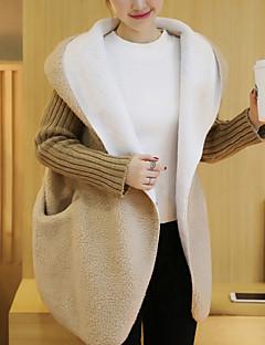 levne Dámské kabáty a trenčkoty-Dámské Jednobarevné Základní Kabát