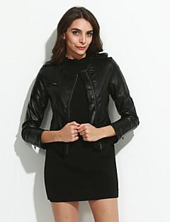billiga Dampälsar och läder-Women's Long Sleeve Evening/Career PU Leather Jacket