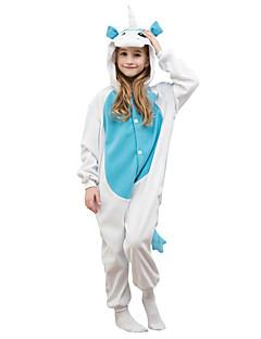 着ぐるみ パジャマ Unicorn レオタード/着ぐるみ イベント/ホリデー 動物パジャマ ハロウィーン ブルー ゼブラプリント フリース ために 子供用 ハロウィーン クリスマス カーニバル こどもの日 新年