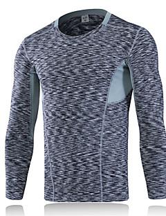 Herrn T-Shirt für Wanderer Rasche Trocknung tragbar Atmungsaktiv Komfortabel Schweißableitend Leicht Außen Kompressionskleidung Oberteile