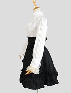 billiga Lolitamode-Klassisk / Traditionell Lolita Dam Outfits Cosplay Svart Långärmad Knälång Halloweenkostymer