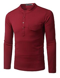 billige Herremote og klær-Bomull Rund hals T-skjorte Herre - Ensfarget, Overskjørt