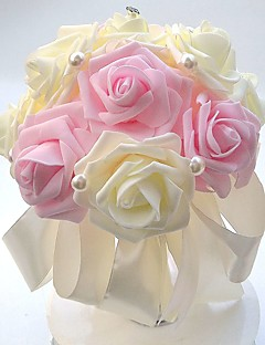 "cheap -Wedding Flowers Bouquets Wedding Party / Evening Satin Foam 8.66""(Approx.22cm)"