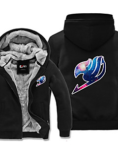 cheap Anime Cosplay-Inspired by Fairy Tail Cosplay Anime Cosplay Costumes Cosplay Hoodies Print Long Sleeves Top For Men's Women's