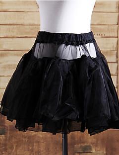 billiga Lolitaklänningar-Klassisk/Traditionell Lolita Lolita Satin Dam Kjolar Cosplay Vit Svart Kort längd