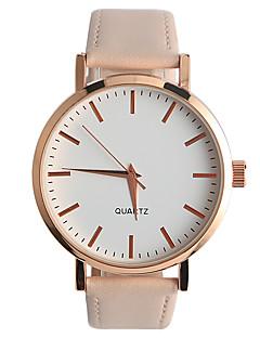 Damen Modeuhr Armbanduhren für den Alltag Quartz / PU Band Bequem Minimalistisch Beige Khaki