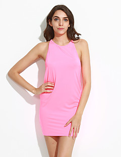 Women's Going out Club Sexy Bodycon Dress,Solid Strap Knee-length Sleeveless
