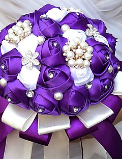 "cheap -Wedding Flowers Bouquets Wedding Party / Evening Bead Rhinestone Silk Satin 19.7""(Approx.50cm)"
