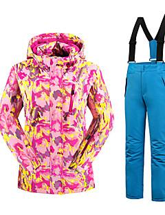 Calças & Jaquetas de Esqui Crianças Esqui Esportes de Inverno Térmico/Quente Confortável Poliéster Conjuntos de Roupas