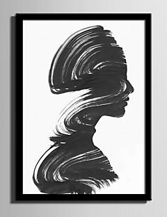 Gerahmtes Leinenbild Gerahmtes Set Abstrakt Menschen Wandkunst, PVC Stoff  Mit Feld Haus Dekoration Rand Kunst Wohnzimmer Schlafzimmer