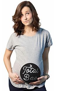 Solide Einfach Lässig/Alltäglich T-shirt,Rundhalsausschnitt Sommer Herbst Kurzarm Baumwolle