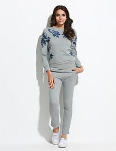 billige -Dame Plusstørrelser Aktiv beklædning sæt Trykt mønster