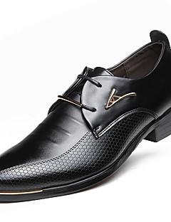 Erkek Ayakkabı Yapay Deri Bahar Yaz Sonbahar Kış Rahat Moda Botlar Oxford Modeli Bağcıklı Uyumluluk Günlük Parti ve Gece Siyah Kahverengi