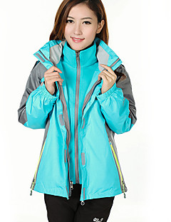cheap Outdoor Clothing-Women's Hiking 3-in-1 Jackets Outdoor Winter Waterproof Thermal / Warm Windproof Fleece Lining Antistatic Coverall Tracksuit Skiing