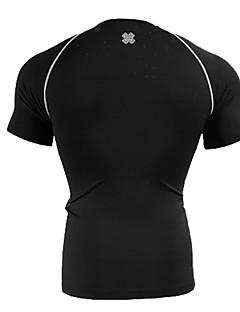 男性用 ベースレイヤー ランニングTシャツ ノースリーブ 速乾性 高通気性 ベースレイヤー のために エクササイズ&フィットネス ランニング スパンデックス タイト ブラック M L XL XXL XXXL