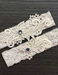 cheap -Lace Classic Fashion Wedding Garter with Rhinestone Lace Garters