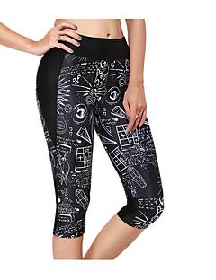 baratos -Mulheres Calça 3/4 de Corrida Respirável 3/4 calças justas Calças Ioga Exercício e Atividade Física Corrida Delgado S M L